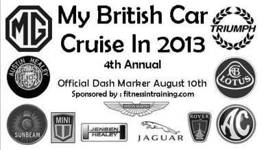 My British Car Cruise In 2013 Dash Official Dash Marker